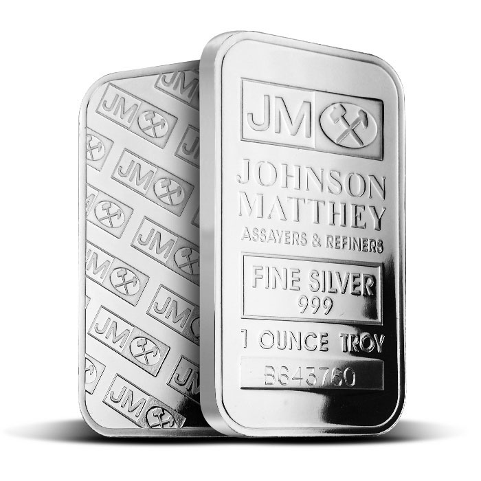 Johnson Matthey 1 oz .999 Fine Silver Bar