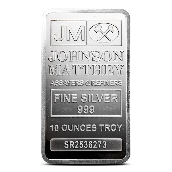 10 oz Silver Bar | Johnson Matthey
