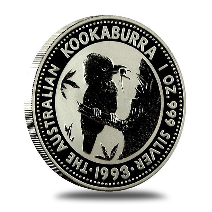 1993 Australian 1 Oz Silver Kookaburra Coin Reverse