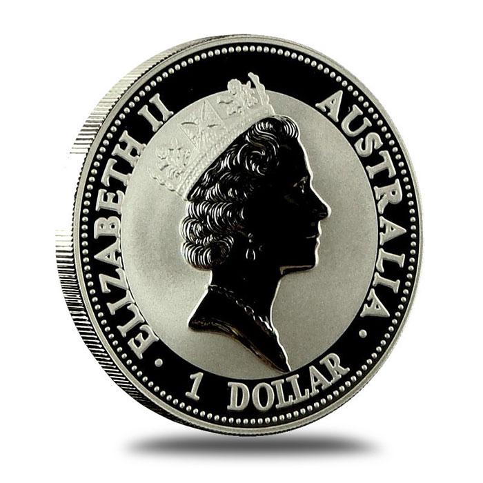 1993 Australian 1 Oz Silver Kookaburra Coin Obverse