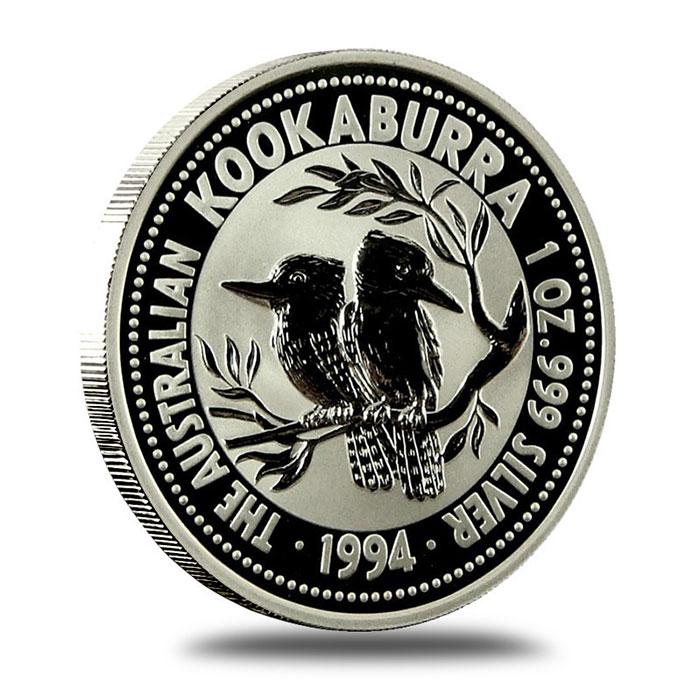1994 Australian 1 Oz Silver Kookaburra Coin Reverse