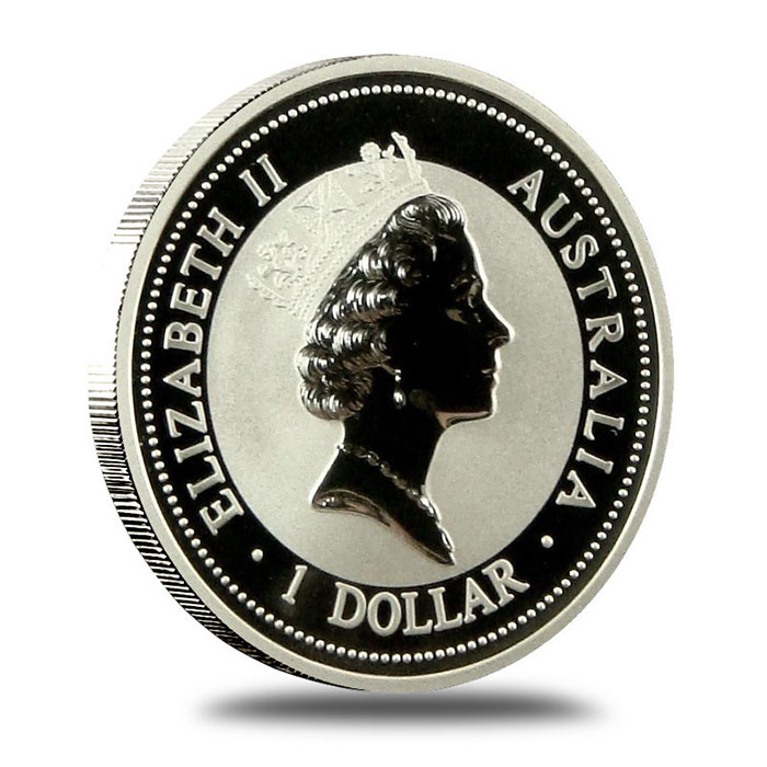 1994 Australian 1 Oz Silver Kookaburra Coin Obverse
