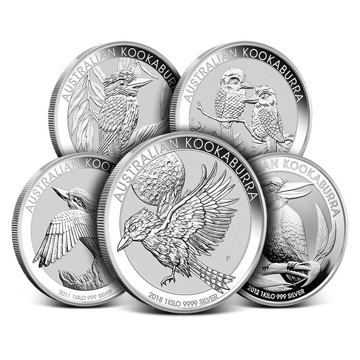 Kilo Perth Mint Silver Kookaburra Coin