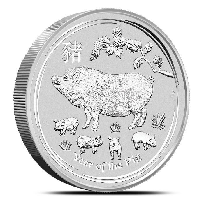 2019 Kilo Silver Lunar Pig Reverse