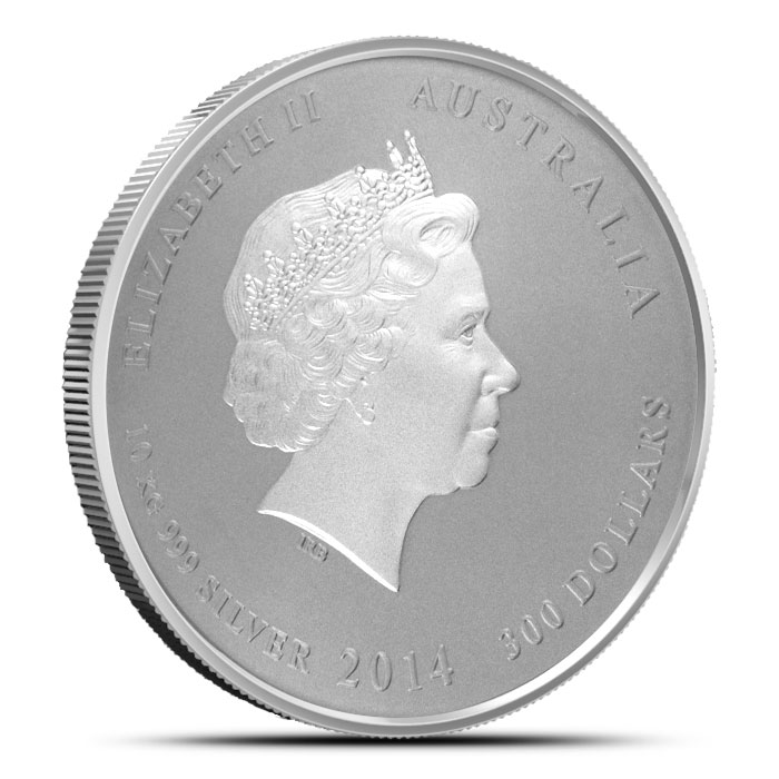 2014 Kilo Silver Australian Year of the Horse Coin | Perth Mint Obverse