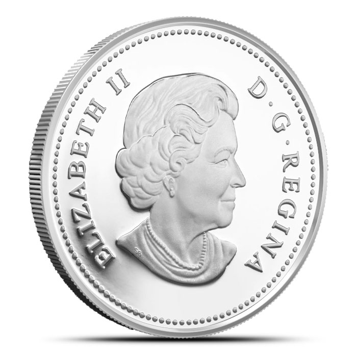 2014 1 oz Lake Ontario Canadian $20 | The Great Lakes Obverse