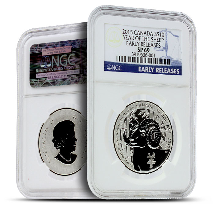 2015 1/2 oz $10 Silver Year of the Sheep | NGC SP69