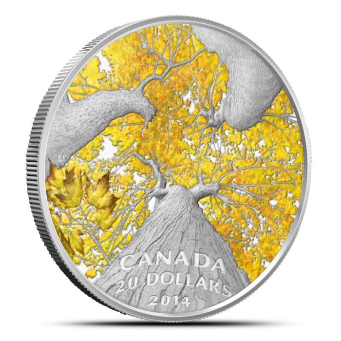 2014 1 oz $20 Silver Maple Canopy | Autumn Allure