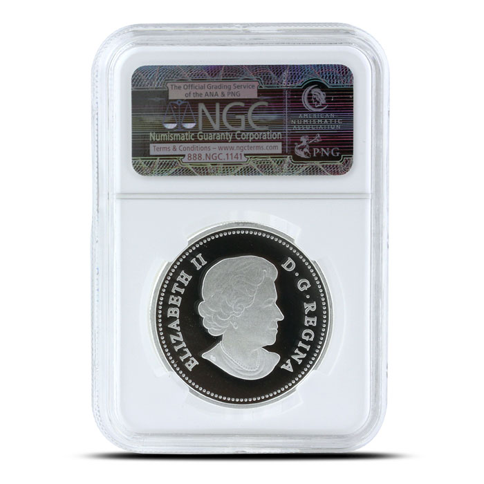 2014 1/2 oz $10 Silver Bison   O Canada Series NGC-PF69 Reverse