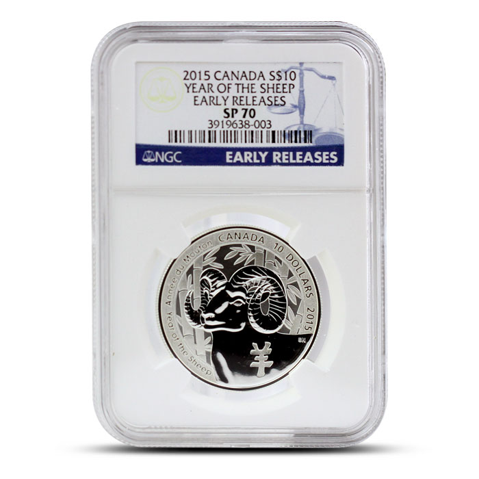 2015 1/2 oz $10 Silver Year of the Sheep | NGC SP70 Obverse