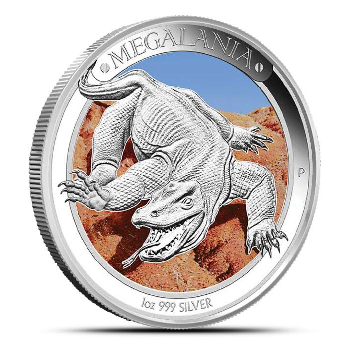 2014 1 oz Proof Silver Australian Megafauna | Megalania