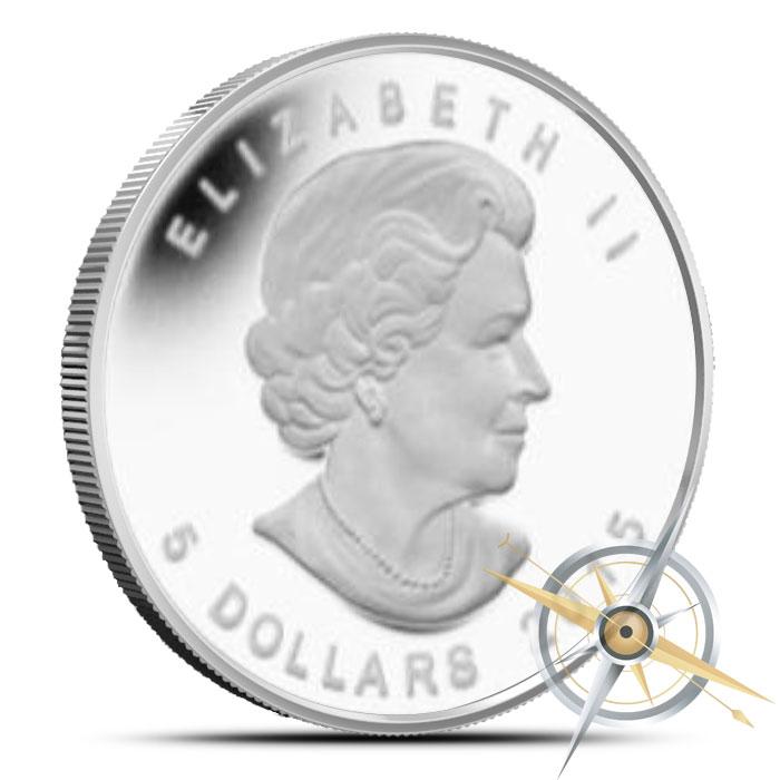 2015 1 oz Canadian Silver Polar Bear and Cub Reverse