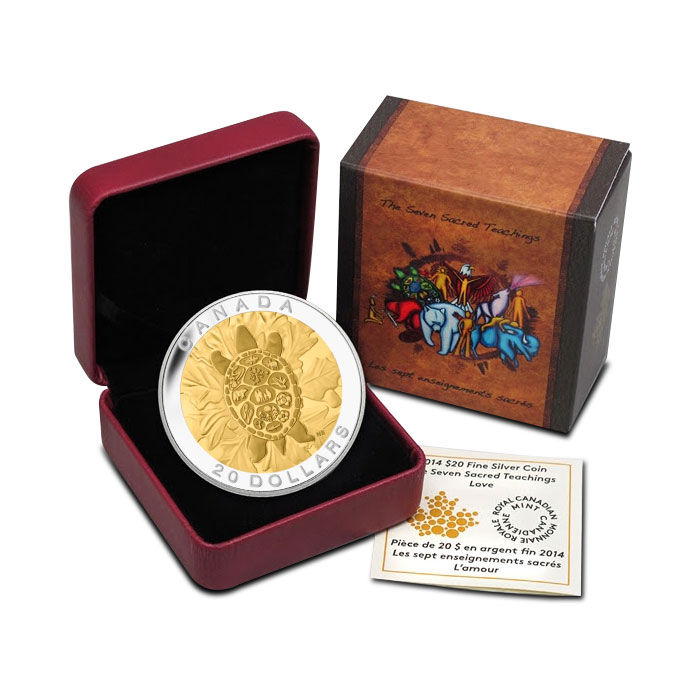 2014 Silver $20 Truth Coin | The Seven Sacred Teachings Packaging
