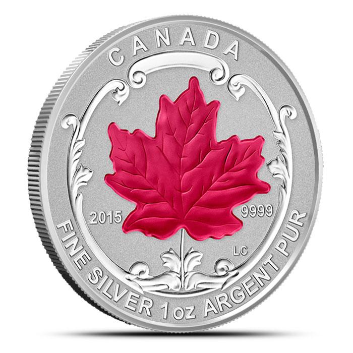 2015 Canadian Silver Fractional Set - Maple Leaf
