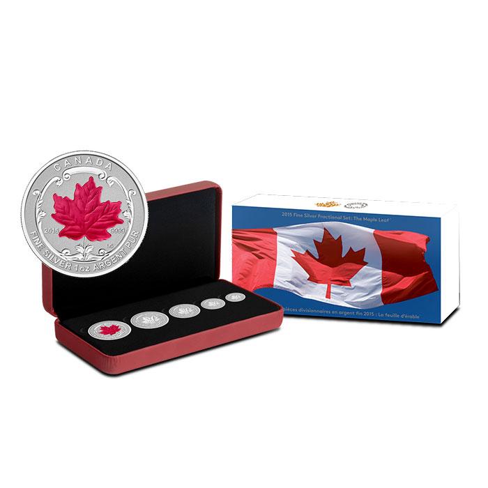 2015 Canadian Silver Fractional Set - Maple Leaf Set