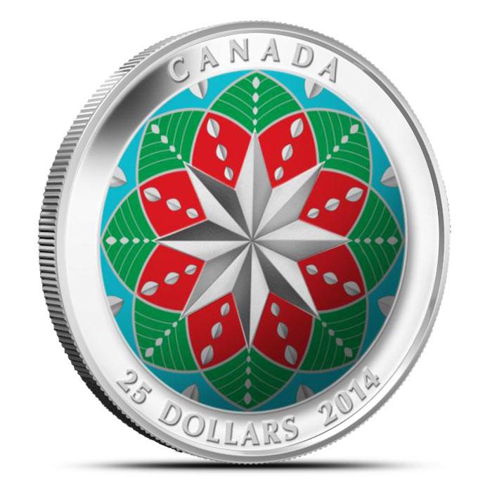 2013 1 oz High Relief Silver Christmas Ornament