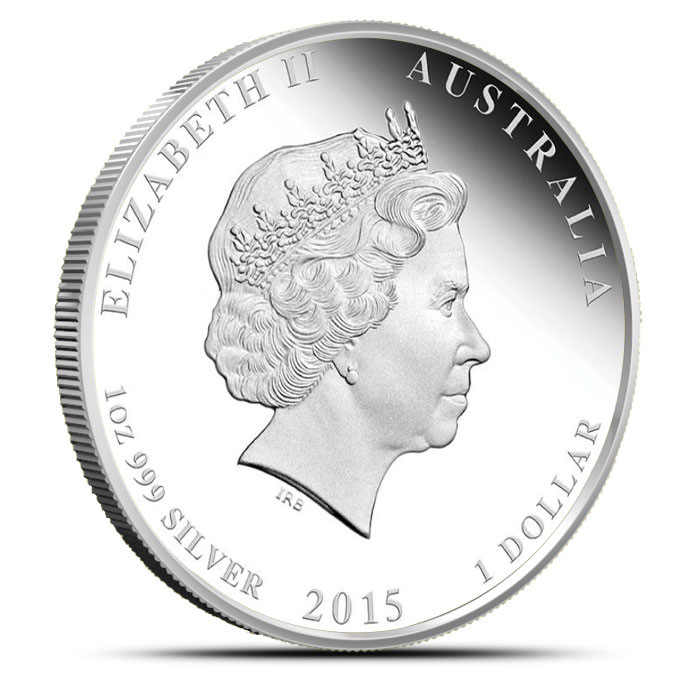 2015 1 oz Silver Proof Year of the Goat | Perth Mint Lunar Series 2 Reverse