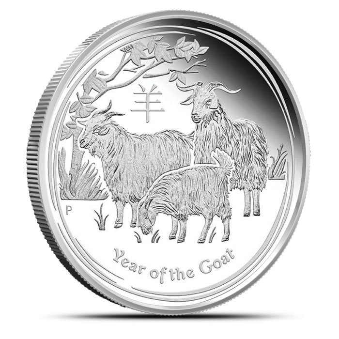 2015 Kilo Silver Proof Year of the Goat | Perth Mint Lunar Series 2