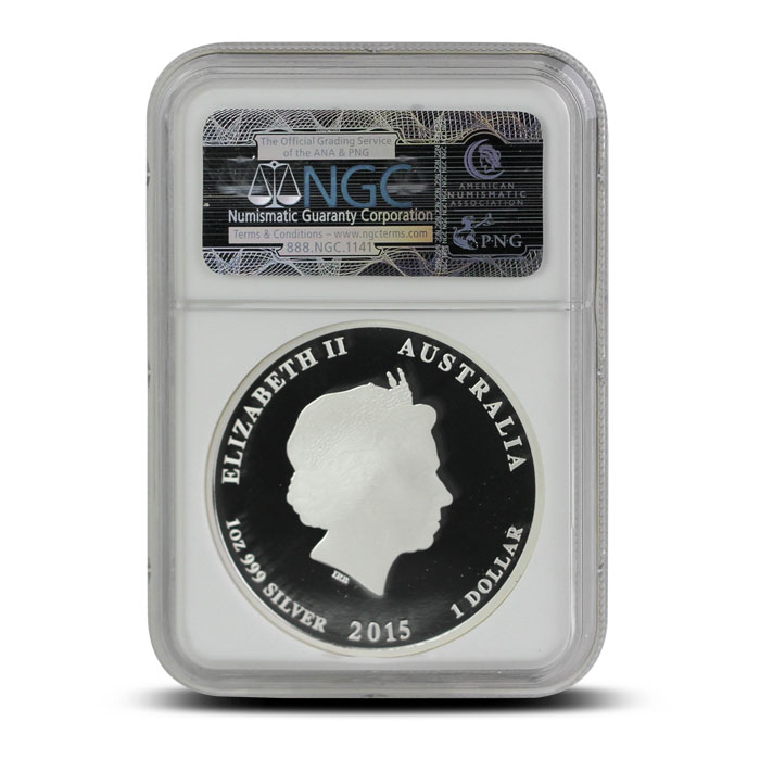 2015 1 oz Proof Silver Year of the Goat   Perth Mint Lunar Series II NGC PF69 reverse