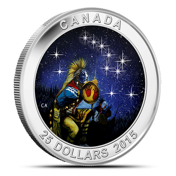 2015 $25 1 oz Silver Proof The Quest | Star Charts Series Obverse