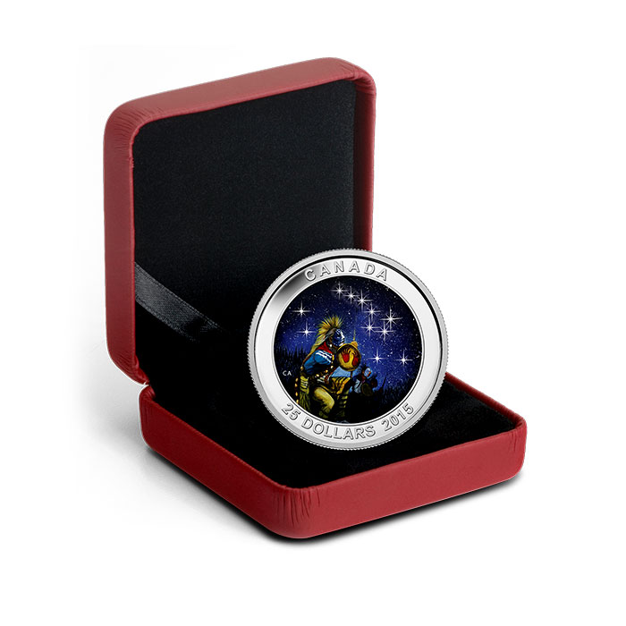2015 $25 1 oz Silver Proof The Quest | Star Charts Series