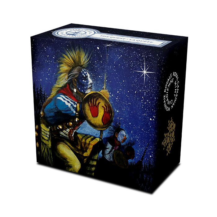 2015 $25 1 oz Silver Proof The Quest | Star Charts Series Box
