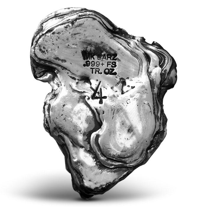 Leaf 4 oz Silver Bar | Poured Silver | MK BarZ