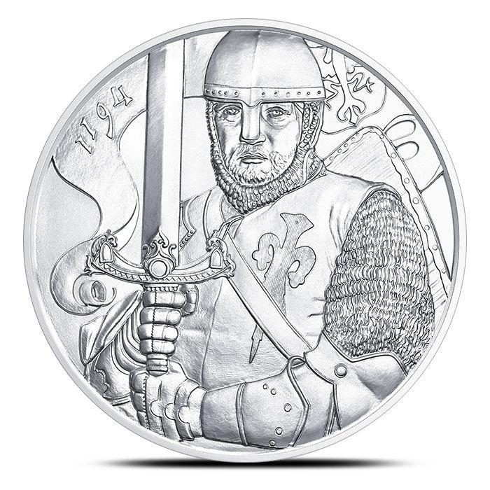 2019 Austrian 1 oz Silver Leopold Coin   825th Anniversary Reverse