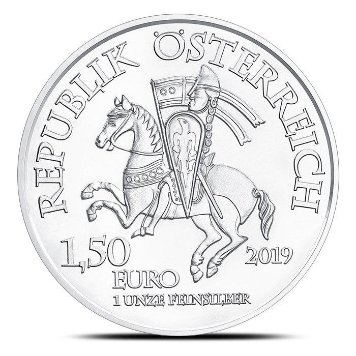 2019 Austrian 1 oz Silver Leopold Coin   825th Anniversary Obverse