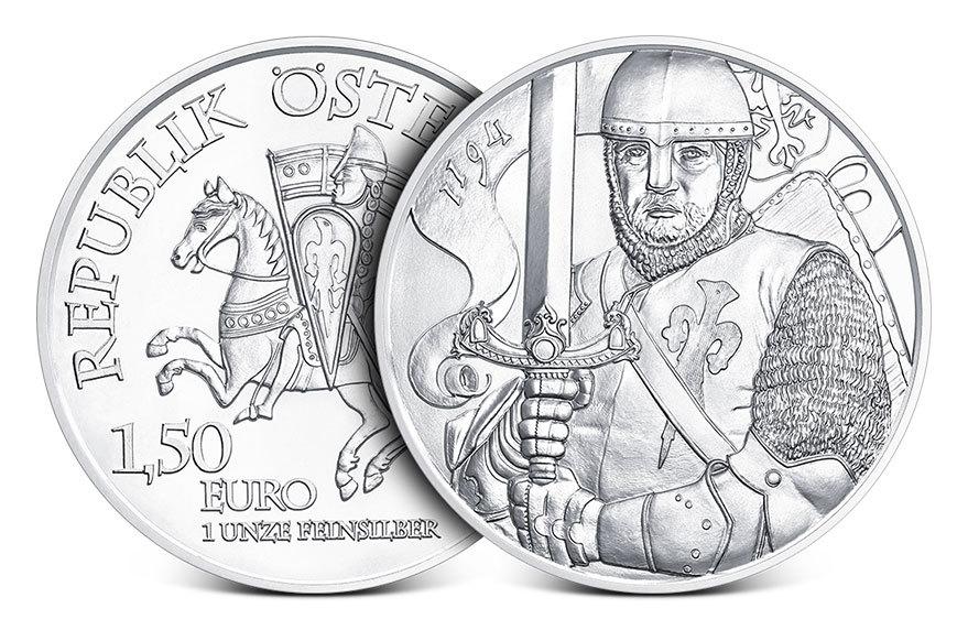 2019 Austrian 1 oz Silver Leopold Coin