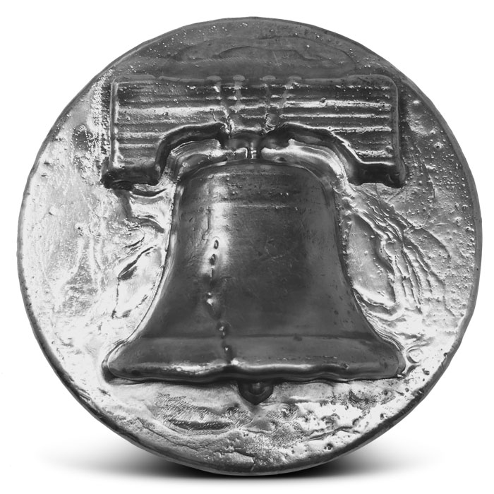 Liberty Bell Poured Silver Round