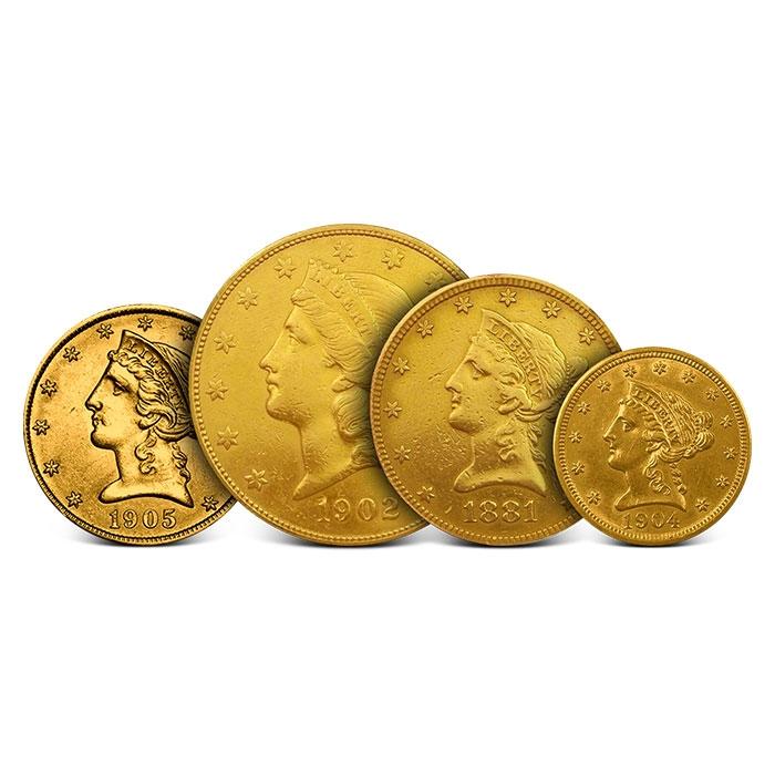 US Mint Liberty Gold 4 Piece Set