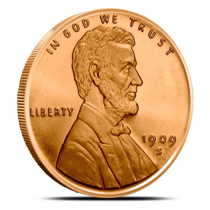 1 oz Copper Round | Lincoln Cent