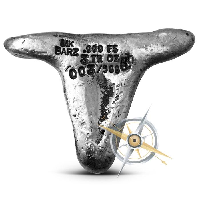 Longhorn Skull three ounce Poured Silver Bar | MK BarZ