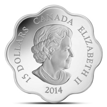 2014 Canadian Lotus Year of the Horse Proof Silver Coin Reverse