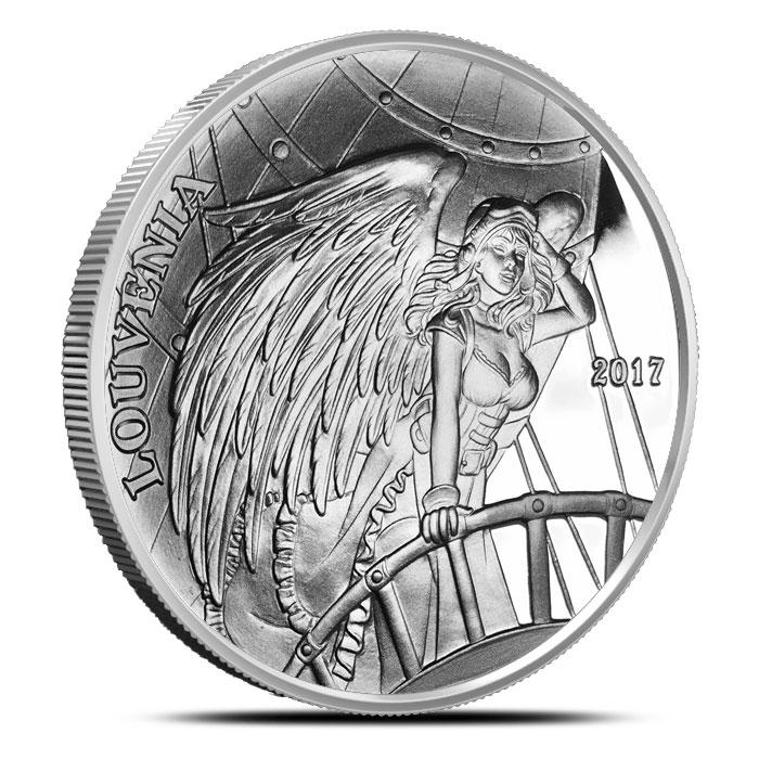 Louvenia Silver Round