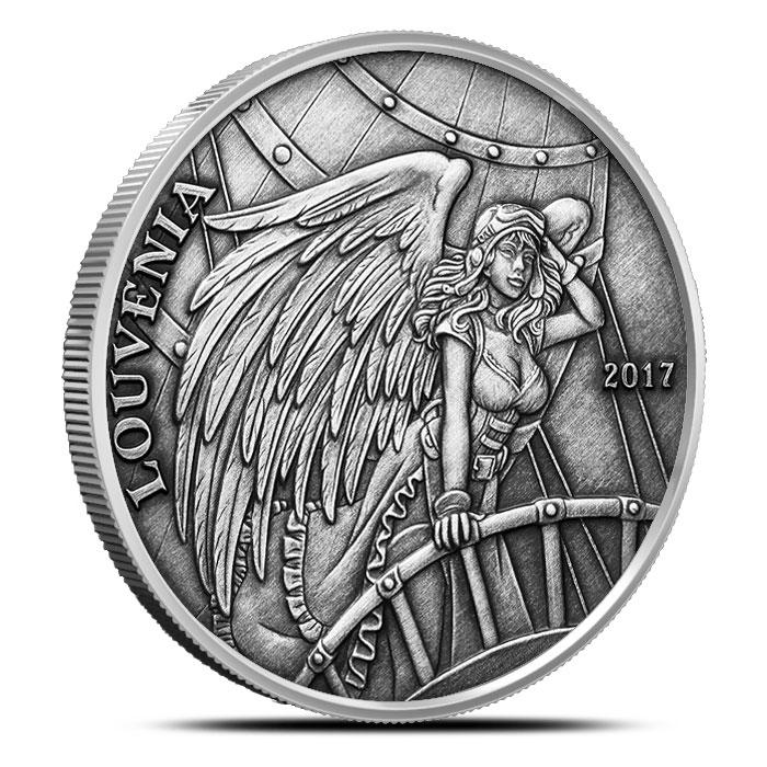 Louvenia Vintage Silver Round