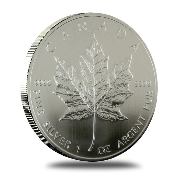 2009 1 oz Canadian Silver Maple Leaf Coin Reverse