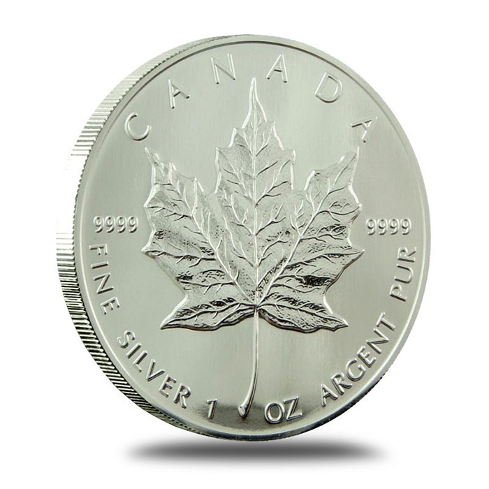1989 1 oz Canadian Silver Maple Leaf Coin Reverse