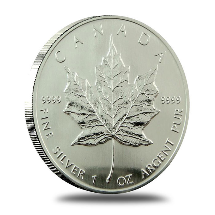 1993 1 oz Canadian Silver Maple Leaf Coin Reverse