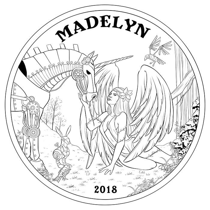 Angel Madelyn Concept Sketch