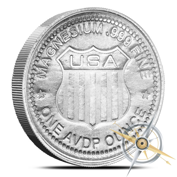 1 oz Magnesium Round | Indian Head