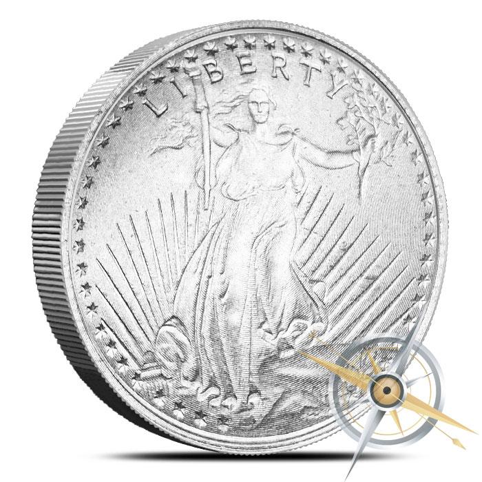 Saint Gaudens 1 oz Magnesium Round-Exotic Metals