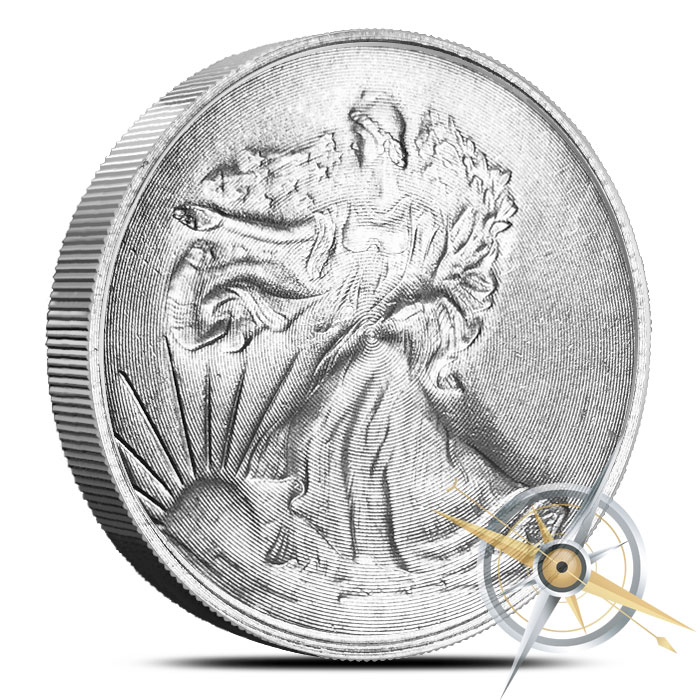 Walking Liberty 1 oz Magnesium Round