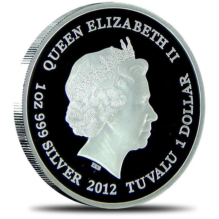 2012 Tuvalu Proof Silver Marilyn Monroe NGC PF 69 Reverse