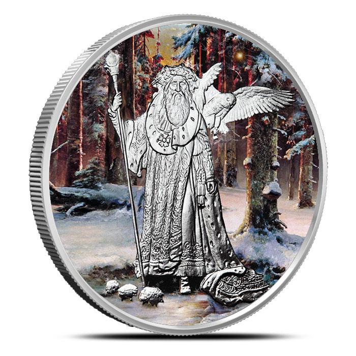 Merlin 1 oz Silver Colorized | Celtic Lore