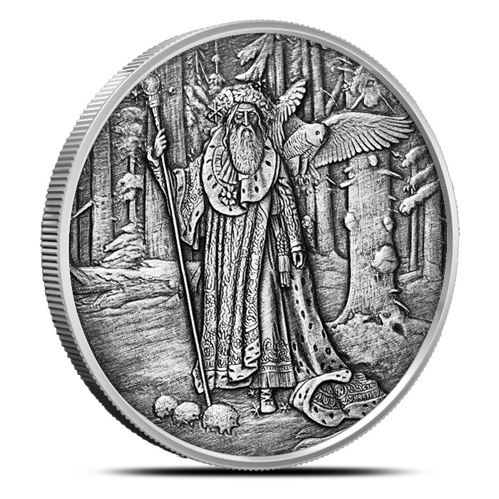 Merlin 1 oz Antique Silver | Celtic Lore