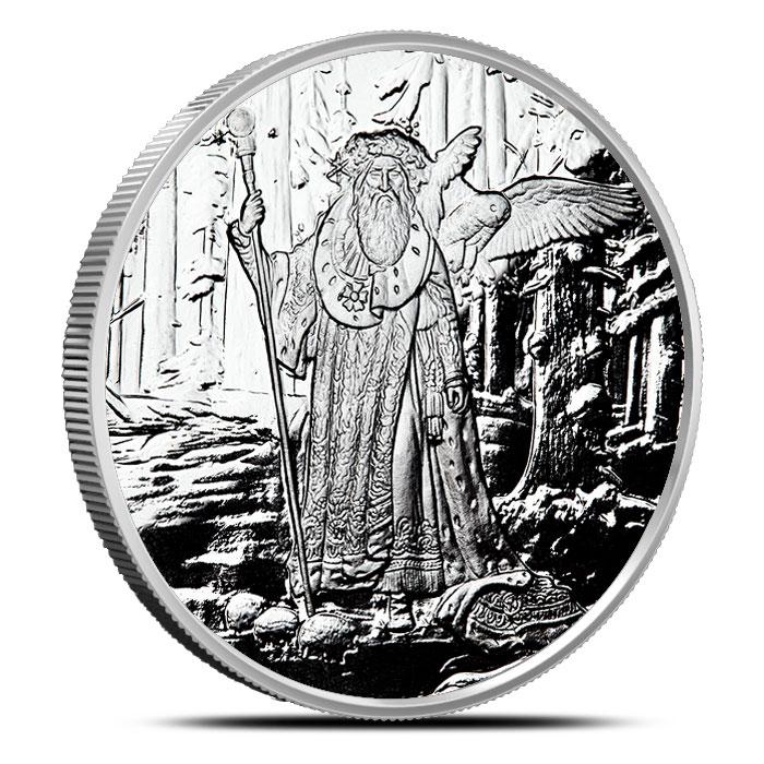 Merlin 1 oz Proof Silver | Celtic Lore