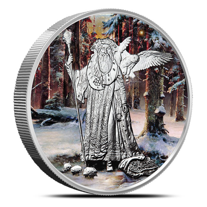 Merlin 5 oz Silver Colorized | Celtic Lore
