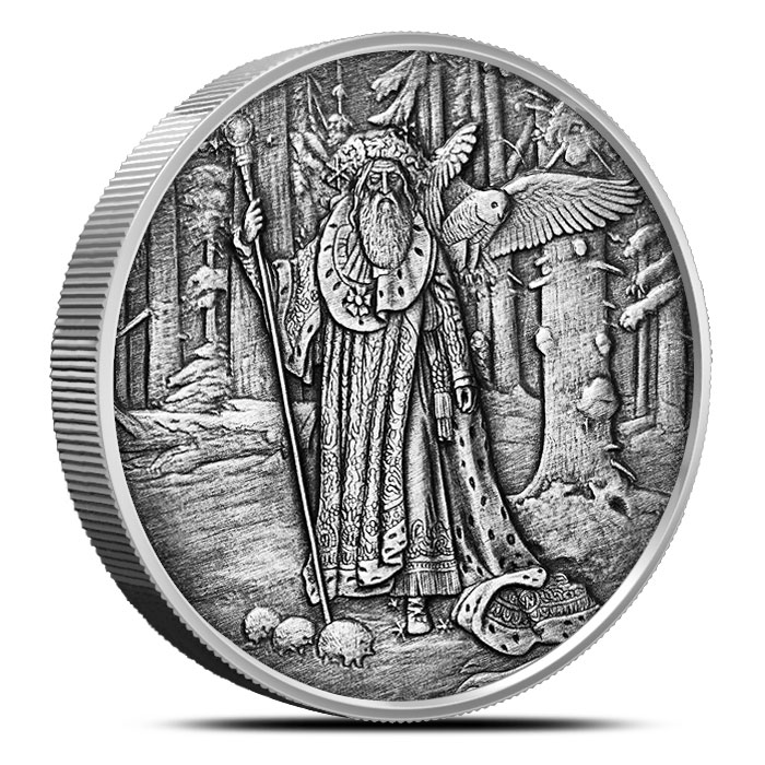 Merlin 5 oz Antique Silver | Celtic Lore